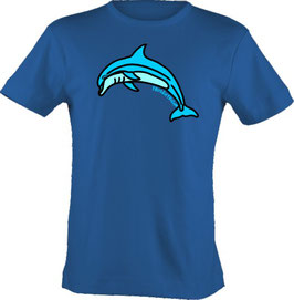 """T-Shirt, """"VERY BIG"""", Froschteich® Delfin, Aufdruck vorne"""