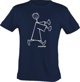 T-Shirt, Strichpunkt-Rennendes Männchen,  Aufdruck vorne