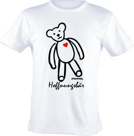 T-Shirt, unisex, Strichpunkt-Hoffnungsbär  Aufdruck vorne