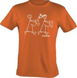 T-Shirt, unisex, Strichpunkt-Fang mich,  Aufdruck vorne