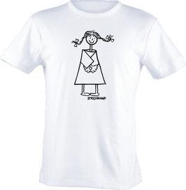T-Shirt, unisex, Strichpunkt-Intromädchen,  Aufdruck vorne