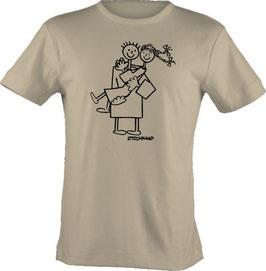 T-Shirt, unisex, Strichpunkt-Trag mich,  Aufdruck vorne