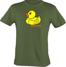 """T-Shirt, """"VERY BIG"""", Froschteich® Qietscheente, Aufdruck vorne"""