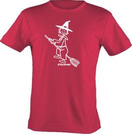 T-Shirt Kids, Strichpunkt-Hexe,  Aufdruck vorne