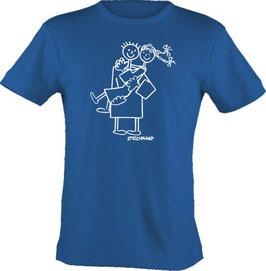 """T-Shirt, """"VERY BIG"""", Strichpunkt-Trag mich,  Aufdruck vorne"""