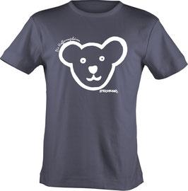 T-Shirt, unisex, Strichpunkt Hoffnungsbären-Kopf,  Aufdruck vorne