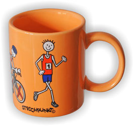 Becher, Strichpunkt-Triathlon, Orange