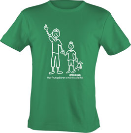 T-Shirt, unisex, Strichpunkt Nie alleine,  Aufdruck vorne