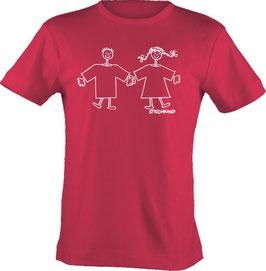 """T-Shirt, """"VERY BIG"""", Strichpunkt-Paar,  Aufdruck vorne"""