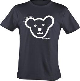 T-Shirt, unisex, Strichpunkt-Unter jeder Maske Mädchenkopf,  Aufdruck vorne