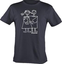 T-Shirt, Strichpunkt-Freunde,  Aufdruck vorne