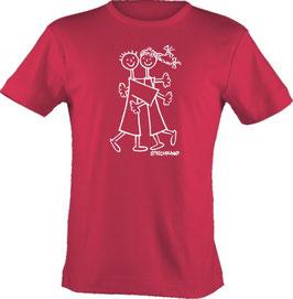 T-Shirt, Strichpunkt-Drück mich,  Aufdruck vorne