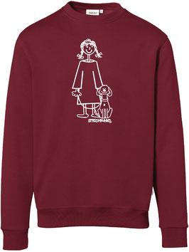 Sweatshirt, unisex, Strichpunkt-Mädchen mit Hund,  Aufdruck vorne