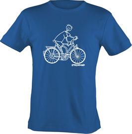 T-Shirt Kids, Strichpunkt-Fahrradfahrer,  Aufdruck vorne