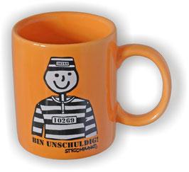 Becher, Strichpunkt-Bin unschuldig, Orange