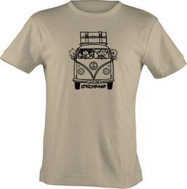 T-Shirt, unisex, Strichpunkt-Bus,  Aufdruck vorne