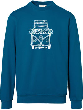 Sweatshirt, unisex, Strichpunkt-Bus Hund u. Katze,  Aufdruck vorne