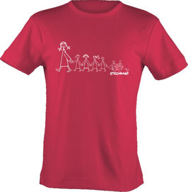 T-Shirt, Strichpunkt-Kindergarten,  Aufdruck vorne