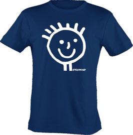 T-Shirt, unisex, Strichpunkt-Head,  Aufdruck vorne