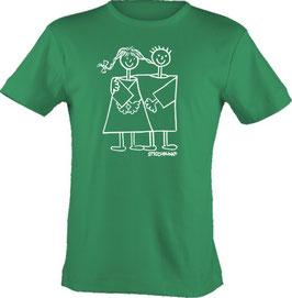 T-Shirt, unisex, Strichpunkt-Freunde,  Aufdruck vorne
