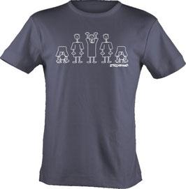 T-Shirt, unisex, Strichpunkt-La ola,  Aufdruck vorne