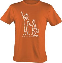 T-Shirt Kids, Strichpunkt Nie alleine, Aufdruck vorne