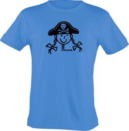 T-Shirt Kids, Strichpunkt-Piratin,  Aufdruck vorne