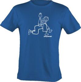 T-Shirt, Strichpunkt-Papa,  Aufdruck vorne