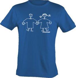 T-Shirt, unisex, Strichpunkt-Paar,  Aufdruck vorne