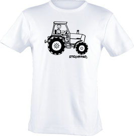 T-Shirt Kids, Strichpunkt-Traktor,  Aufdruck vorne