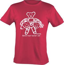 T-Shirt Kids, Strichpunkt Bären haut keiner um, Aufdruck vorne