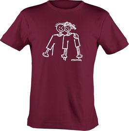 T-Shirt, Unisex, Strichpunkt-Das ist Liebe,  Aufdruck vorne