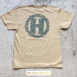Botanical「H」T-Shirt(カーキ)