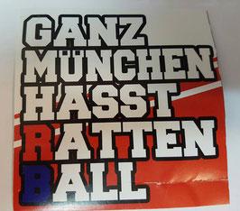 150 Ganz München hasst Rattenball Aufkleber