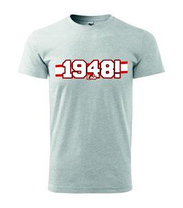 Köln 1948 Rot weisse Streifen Shirt Grau
