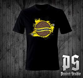 Dortmund Ball und Schal Shirt