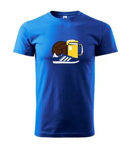 Hamburg Ball,Bier ,Schuhe Shirt Blau