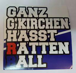 150 Ganz Gelsenkirchen hasst Rattenball Aufkleber