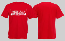 Gegen alle Stadionverbote Shirt Rot