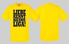 Liebe kennt keine Liga Shirt Gelb/schwarz