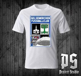 Gelsenkirchen Stadtwappen und Stadion Fussballclub Shirt