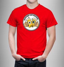 München Bochum Freundschaft Bier Shirt Rot