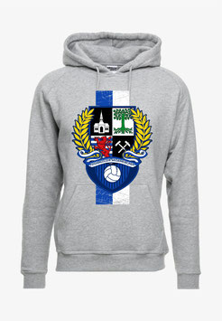 Gelsenkirchen Stadtwappen Lorbeerkranz Streifen Hochkant Hoodie