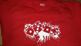 1312 Würfel Shirt Rot