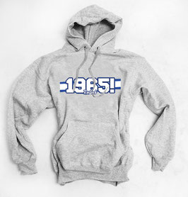 Rostock 1965 blau weisse Streifen Hoodie grau