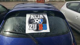 Nein zu RB Autoaufkleber / Fensteraufkleber auch für zuhause
