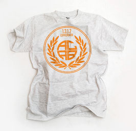 ACAB Orange Aufdruck Shirt Grau