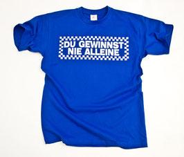Gelsenkirchen Du gewinnst nie alleine Shirt Blau