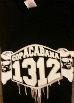 copACABana 1312 Kopf rechts und links Shirt Schwarz