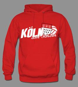 Köln am Rhein Hoodie Rot